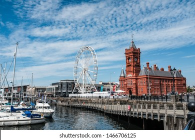 Cardiff, UK. July 2019. Mermaid Quay, Cardiff Bay.