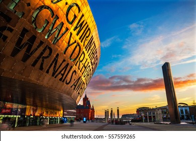Cardiff, Uk - November 30, 2014. Millennium Centre in Cardiff Bay, Wales. It hosts performances of Ballet, Opera, and Dance.