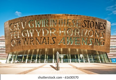 CARDIFF, UK - SEP 8: Cardiff Millennium Centre, UK on September 8, 2010. It hosts performances of opera, ballet, dance, comedy and musicals; in October 2010 it's home to Shakespeare Schools Festival.