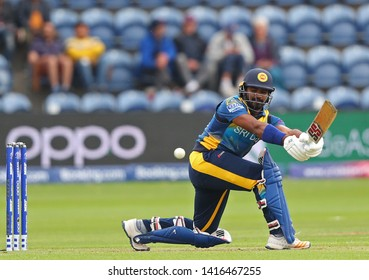 CARDIFF, WALES. 04 JUNE 2019: Kusal Perera of Sri Lanka batting during the Afghanistan v Sri Lanka, ICC Cricket World Cup match, at Cardiff Wales Stadium, Cardiff, Wales.