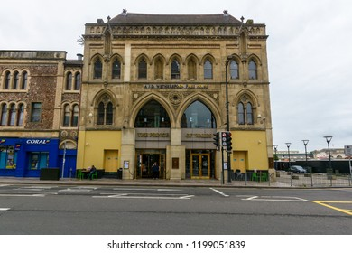 Cardiff, Wales - Aug 27, 2018: Facade of The Prince of Wales, J.D. Wetherspoon Free House