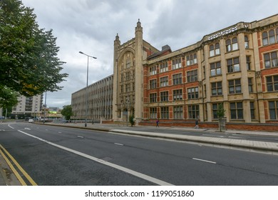 Cardiff, Wales - Aug 27, 2018: Queen's Buildings on Newport Road Cardiff C