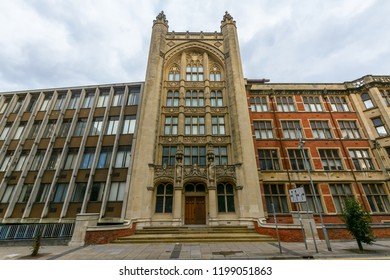 Cardiff, Wales - Aug 27, 2018: Queen's Buildings on Newport Road Cardiff B