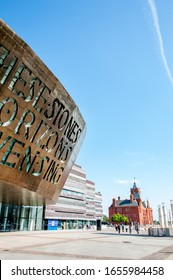 Cardiff, Wales / Britain - June 14 2017: Wales Millennium Centre in Cardiff Bay, Cardiff, Wales