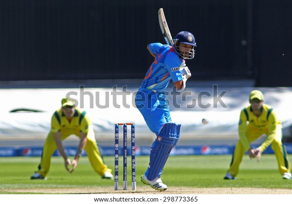 CARDIFF, WALES - June 04 2013: India Shikhar Dhawan during the ICC Champions Trophy warm up match between India and Australia at the Cardiff Wales Stadium on June 04, 2013 in Cardiff, Wales