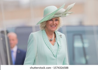 Cardiff, Wales, UK. 7th June 2016. The Duchess of Cornwall after the royal opening of the fifth session of the National Assembly For Wales at the Senedd Building.