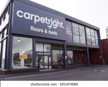 Cardiff, Wales, UK – March 21, 2018: Carpetright retail stores just outside the town centre