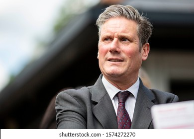 Cardiff, Wales, UK, May 20th 2019. Labour MP Keir Starmer during Welsh Labour campaigning for the European Elections in Roath, in the constituency of Cardiff Central.