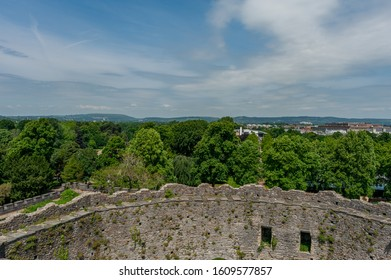Cardiff, Wales / United Kingdom - June 14 2017: View from Cardiff castle of countryside