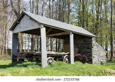 CARDIFF/UK - APRIL 19 : Hayshed at St Fagans National History Museum in Cardiff on April 19, 2015