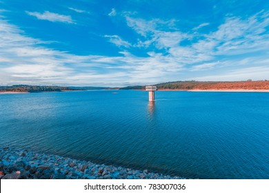 Cardinia reservoir lake and water tower, Melbourne,  Australia