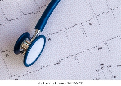 Cardiogram with stethoscope.