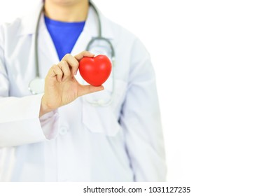 Cardiologist with heart, heart care concept