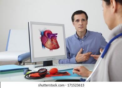 Cardiology Consultation Man