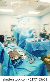 cardiovascular surgery team surgeons in surgery center for interventions with instruments in surgeon operation electrosurgery with thoracotomy microsurgery doing minimal invasive open heart surgery