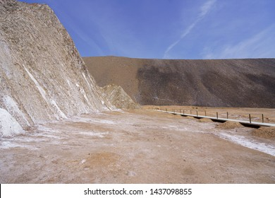 Cardona salt mine and colorful mountain in, Catalonia, Spain.