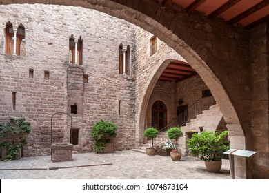 CARDONA,SPAIN-SEPTEMBER 4,2014:Castle of Cardona, medieval fortress, gothic and romanesque style. The fort is currently used as a parador, a state-run luxury hotel.