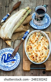 Cardoon gratin with besciamel sauce
