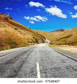 Cardrona valley road. New Zealand