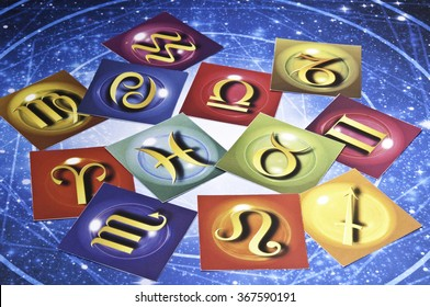 cards with astrology signs