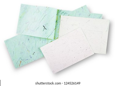 Cards and envelope with shadow (clipping path)