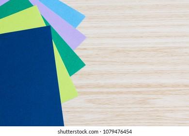 Cardstock on desk