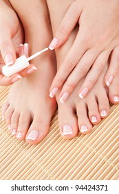 care for beautiful woman nails