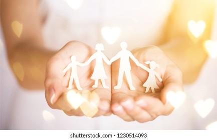 Care concept parenthood center woman help children