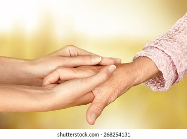 Care, home, hand.