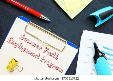 Career concept about Summer Youth Employment Program SYEPs with phrase on the sheet.