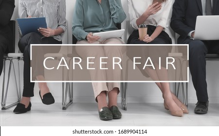 Career fair. People waiting for job interview