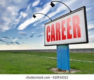 career move and ambition for personal development a nice job promotion billboard