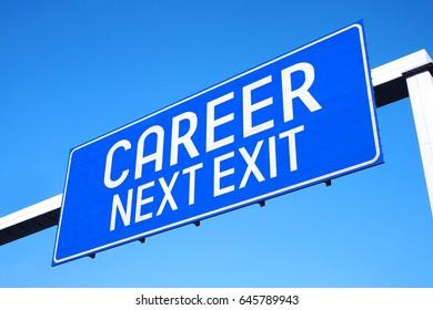 Career - next exit - street sign