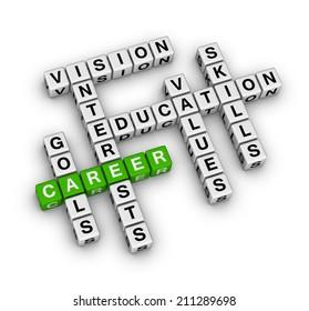 career settings (green-white crossword series)