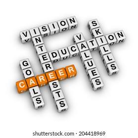 career settings (orange-white crossword puzzles series)