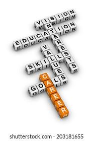 career settings (orange-white crossword series)