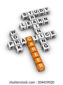 career steps (orange-white crossword puzzles series)