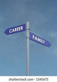 Career vs family signpost