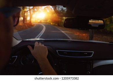 Carefree driving on an autumn day