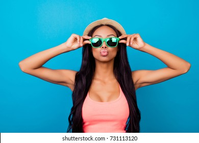 Carefree gorgeous dreamy traveller in trendy beige head wear sends air kiss, so hot, fit and slim. Relax, rest, chill mode! Plastic surgery procedure, plump, shape, botox, fillers, injection, lifting
