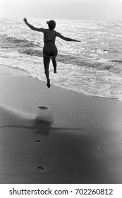 A carefree moment at the beach