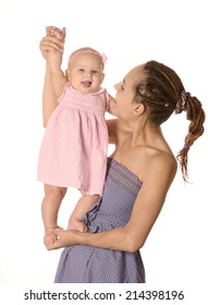 Carefree mother and child