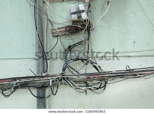 Careless electrical wiring poses a risk to health and safety