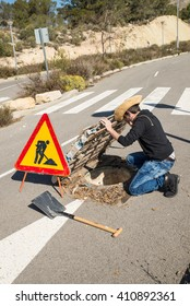 Careless road works, a concept