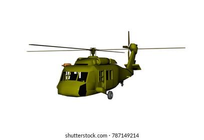 cargo aircraft 3D rendering