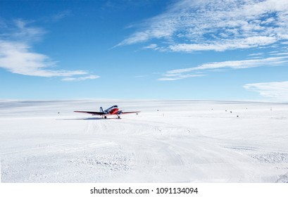 A cargo aircraft in the Antarctic