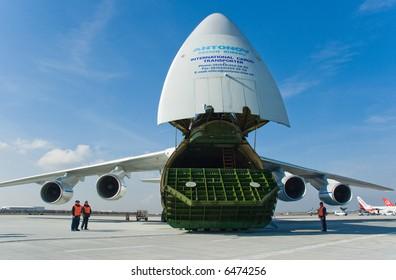 cargo aircraft at apron