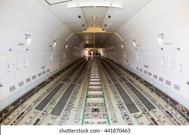 Cargo airplane. Transport Boeing 747. Boeing 747 freighter. Transport airplane. Airfreight carrier. Transport aviation. LD3, LD6, LD1, LD11 containers space. Pallet loading space.