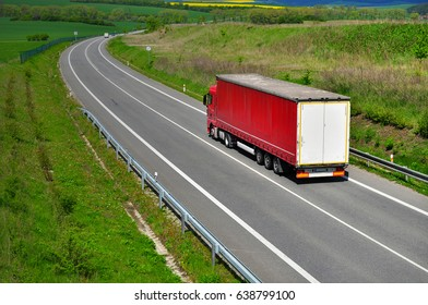 Cargo by truck on road transport