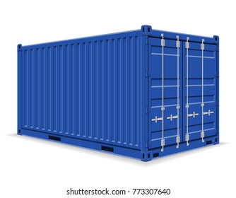 cargo container for the delivery and transportation of merchandise and goods stock illustration isolated on white background